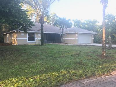 West Palm Beach Single Family Home For Sale: 13216 67th Street