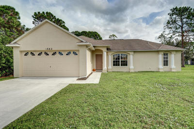 Port Saint Lucie Single Family Home For Sale: 1642 SW Malmo Road