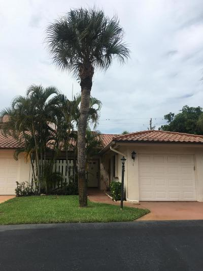 Jupiter Single Family Home For Sale: 130 Palm Avenue #7