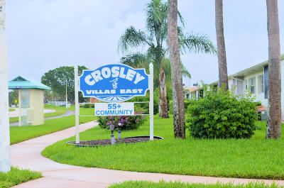West Palm Beach Single Family Home For Sale: 2940 Crosley Drive E #B