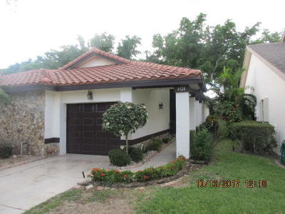 Boynton Beach Single Family Home For Sale: 4728 Boxwood Circle