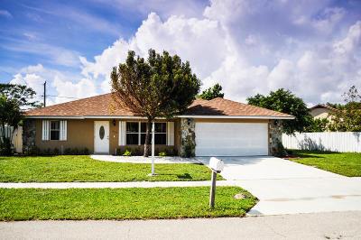 Lantana Single Family Home For Sale: 1316 Caribbean Way