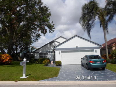 Delray Beach FL Single Family Home For Sale: $299,000