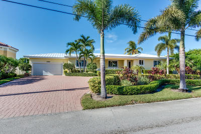 Singer Island Single Family Home For Sale: 1170 Bimini Lane