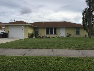 Port Saint Lucie Single Family Home For Sale: 756 NW Floresta Drive