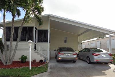 Boynton Beach FL Mobile Home For Sale: $134,900