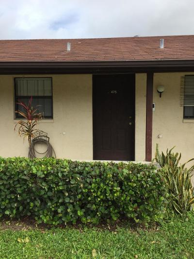 West Palm Beach Condo For Sale: 475 Glenwood Drive