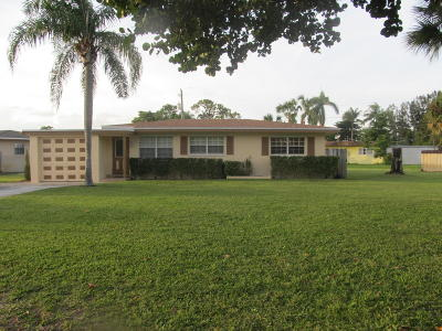 Lake Worth Single Family Home For Sale: 4545 Dolphin Drive