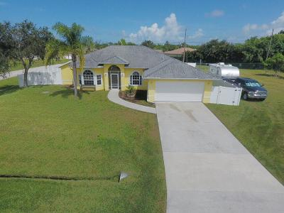 Port Saint Lucie Single Family Home For Sale: 2061 SE Blackwell Drive