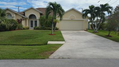 Port Saint Lucie Single Family Home For Sale: 3417 SE Hart Circle