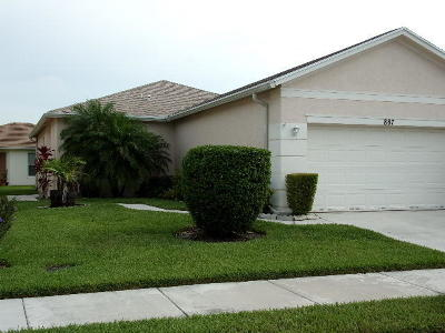 Port Saint Lucie Single Family Home For Sale: 887 SW Rocky Bayou Terrace