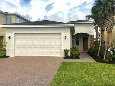 Port Saint Lucie Single Family Home For Sale: 2415 NW Padova Street