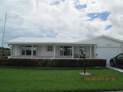 Boynton Beach Single Family Home For Sale: 1802 SW 22nd Avenue