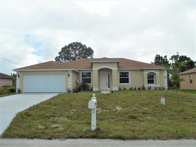 Port Saint Lucie Single Family Home For Sale: 1850 SW Fears Avenue