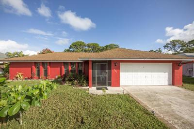 Port Saint Lucie Single Family Home For Sale: 631 SE Polynesian Avenue