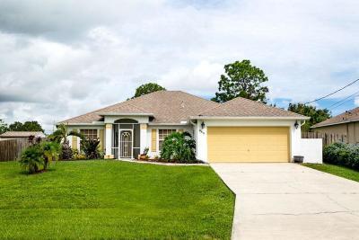 Port Saint Lucie Single Family Home For Sale: 485 SW Dahled Avenue