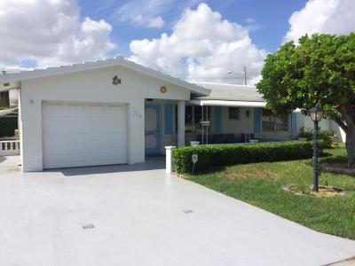 Boynton Beach Single Family Home For Sale: 708 SW 24th Street