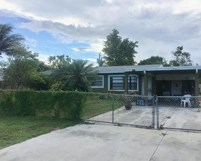 Boynton Beach Single Family Home For Sale: 1521 NE 1st Street