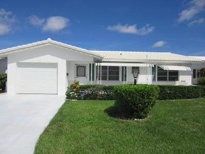 Boynton Beach Single Family Home For Sale: 1509 Alfred Drive