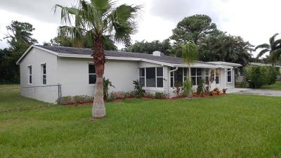 Lake Worth Single Family Home For Sale: 4650 Wenhart Road