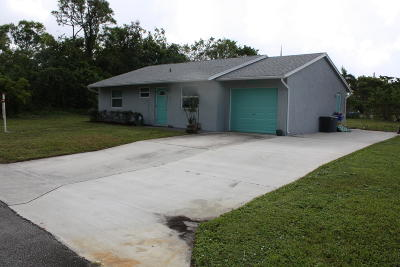 West Boynton Single Family Home For Sale: 3762 Quentin Avenue