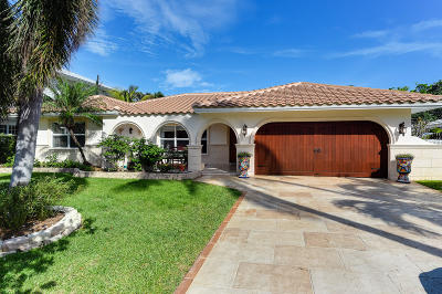 Boca Raton Riviera, Boca Raton Riviera Unit B, Boca Raton Riviera Unit D Single Family Home For Sale: 500 NE Spanish Trail