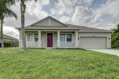 Port Saint Lucie Single Family Home For Sale: 3872 SW Hablow Street