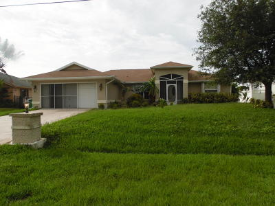 Port Saint Lucie Single Family Home Contingent: 4972 NW Ever Road