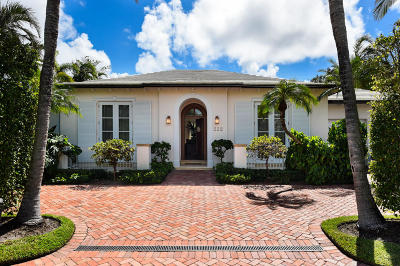 Palm Beach Single Family Home For Sale: 222 Plantation Road