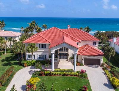 Gulf Stream, Ocean Ridge Single Family Home For Sale: 5516 Old Ocean Boulevard
