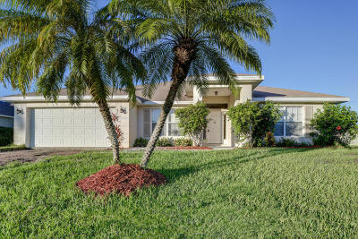Port Saint Lucie Single Family Home For Sale: 5110 NW Edgarton Terrace