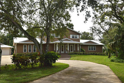 Stuart Single Family Home For Sale: 1474 SW Locks Road