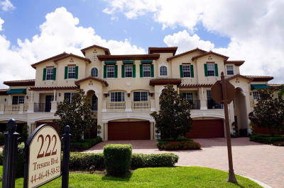 Jupiter Townhouse For Sale: 222 Tresana Boulevard #48