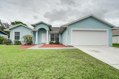 Port Saint Lucie Single Family Home Contingent: 1173 SW Hutchins Street