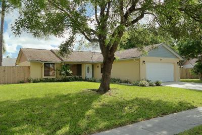 Royal Palm Beach Single Family Home Contingent: 160 Parkwood Drive