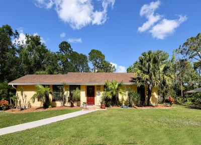 Jupiter Single Family Home For Sale: 10549 153rd Court