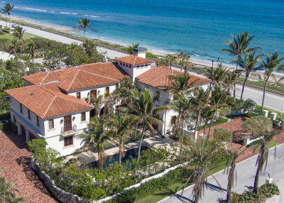 Palm Beach Single Family Home For Sale: 1620 S Ocean Boulevard