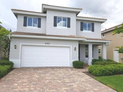 Lake Worth Single Family Home For Sale: 4743 Foxtail Palm Court