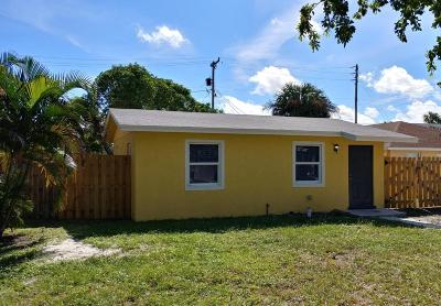 West Palm Beach Single Family Home For Sale: 1018 14th Street