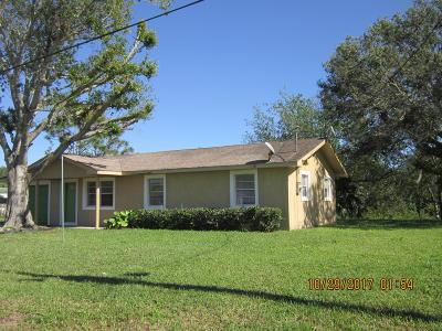 Okeechobee Single Family Home For Sale: 6766 SE 88th Trail