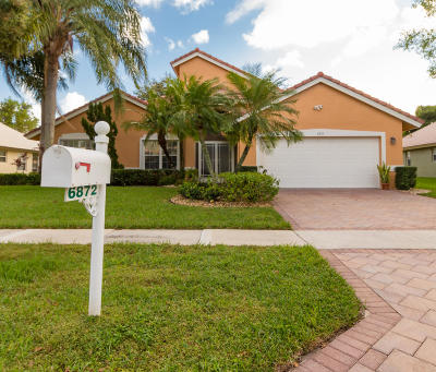Boynton Beach Single Family Home For Sale: 6872 Sun River Road