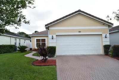 Port Saint Lucie Single Family Home Contingent: 221 SW Manatee Springs Way