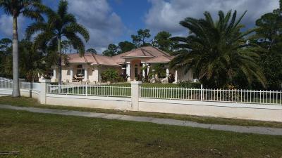 Loxahatchee Single Family Home For Sale: 15465 Citrus Grove Boulevard