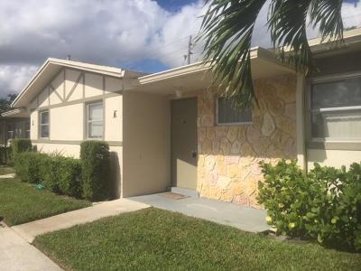 West Palm Beach Single Family Home For Sale: 2591 Emory Drive W #K