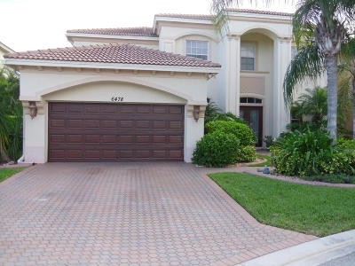West Palm Beach Single Family Home For Sale: 6478 Garden Court
