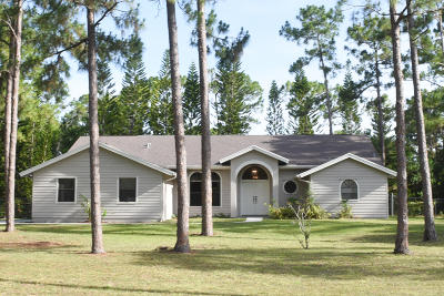 Jupiter Single Family Home For Sale: 13476 155th Place