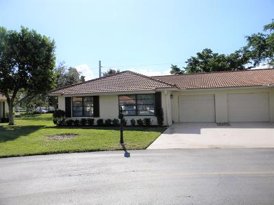 Boynton Beach Single Family Home For Sale: 4610 Rosewood Tree Court #Unit A