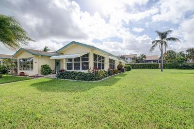 Delray Beach Single Family Home For Sale: 5066 Lakefront Boulevard #D- Bldg