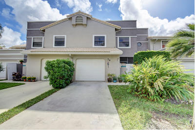Delray Beach Townhouse For Sale: 5255 Monterey Circle #C