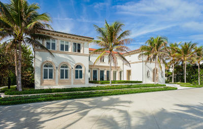 Palm Beach Single Family Home For Sale: 1744 S Ocean Boulevard